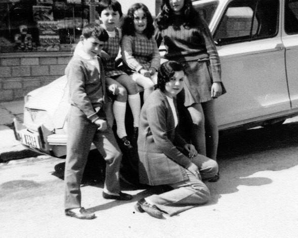 Ines , Ana Mari, Lala, Rosi , Miguel Angel Gil