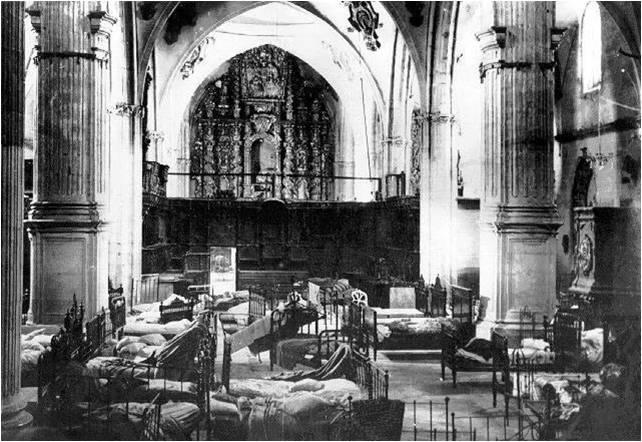 iglesia convertida en Hospital