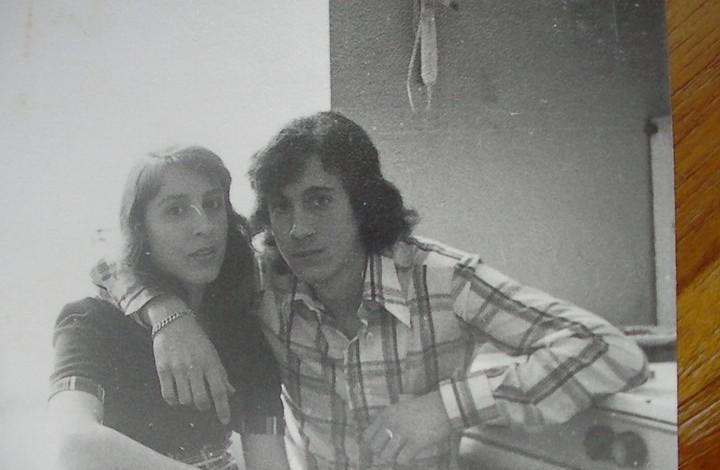 Pepe Jimenez con su novia Rosa en Belgica