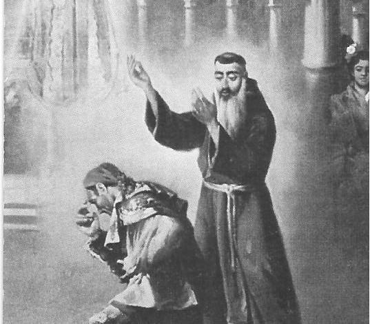 Vision Alegorica de Fray Diego Pedro Romero y Virgen de la Paz RONDA