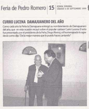 Curro Luceno damajuanero