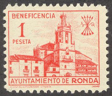 beneficencia 1 peseta Ronda