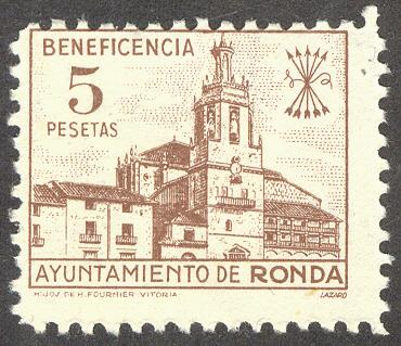 beneficencia 5 pesetas