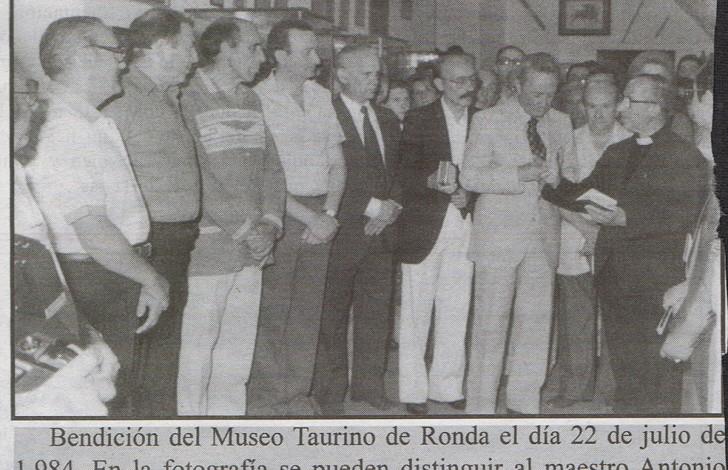 Bendicion del Museo Taurino